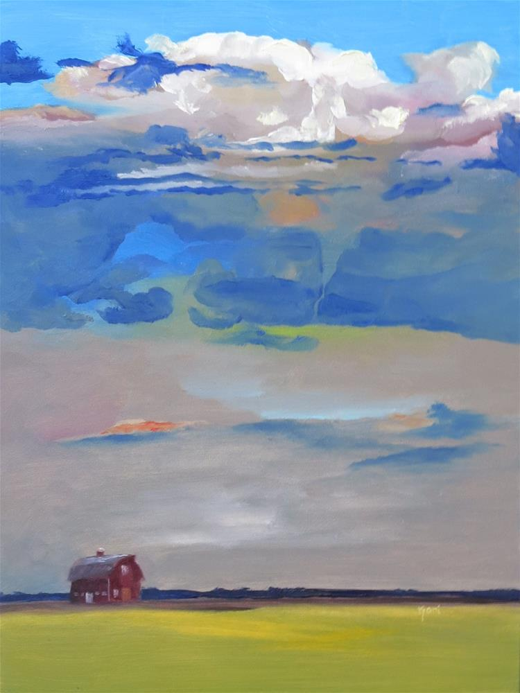"""Brooding Sky"" original fine art by Kari Melen"