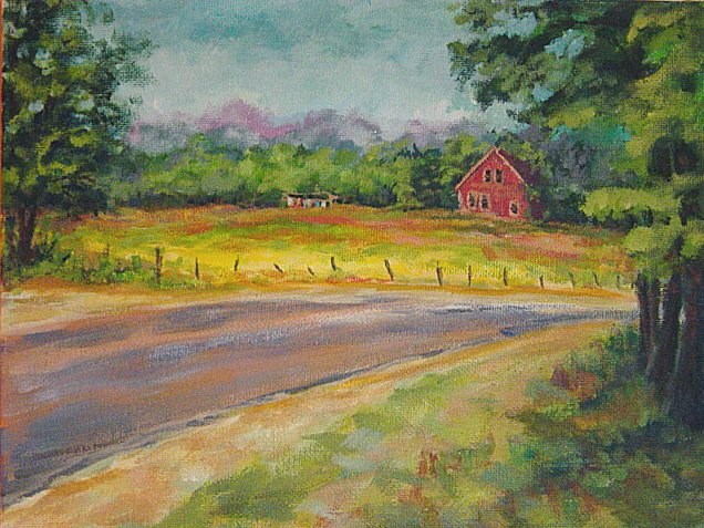 """House on the Road"" original fine art by Maria Levandowski"