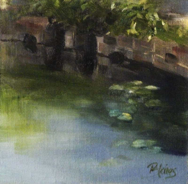 """Summerbrook Pond"" original fine art by Pamela Blaies"