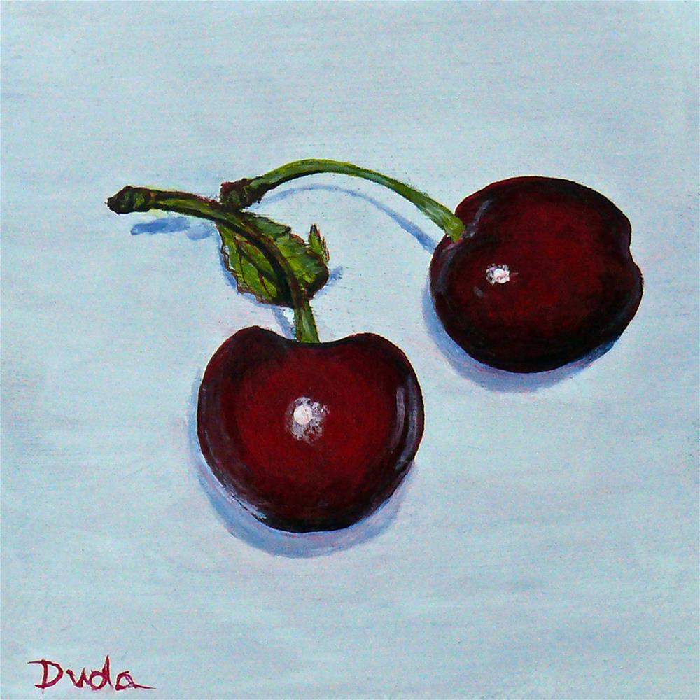 """Summer Cherries"" original fine art by Susan Duda"
