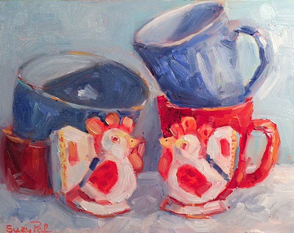 """Red White and Blue"" original fine art by Suzy 'Pal' Powell"