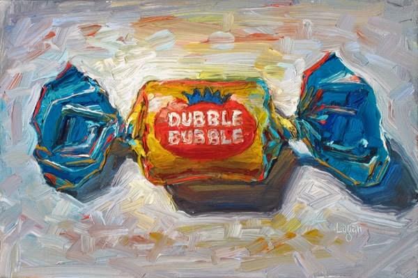 """""""Dubble Bubble Gum"""" original fine art by Raymond Logan"""