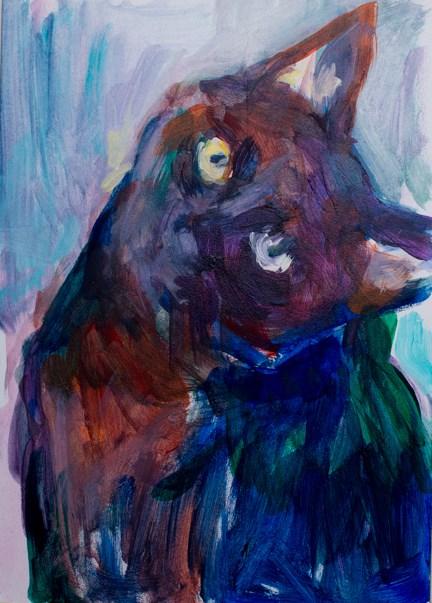 """Look at Me"" original fine art by Sharon Savitz"