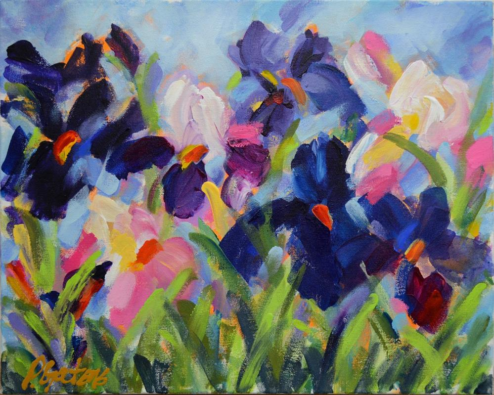 """The Iris Show"" original fine art by Pamela Gatens"