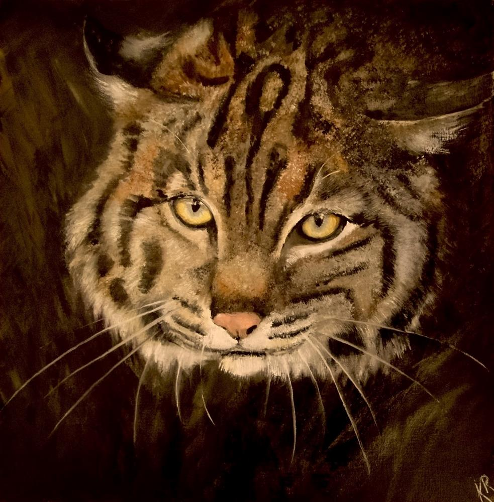 """Study of a bob cat"" original fine art by Karen Robinson"