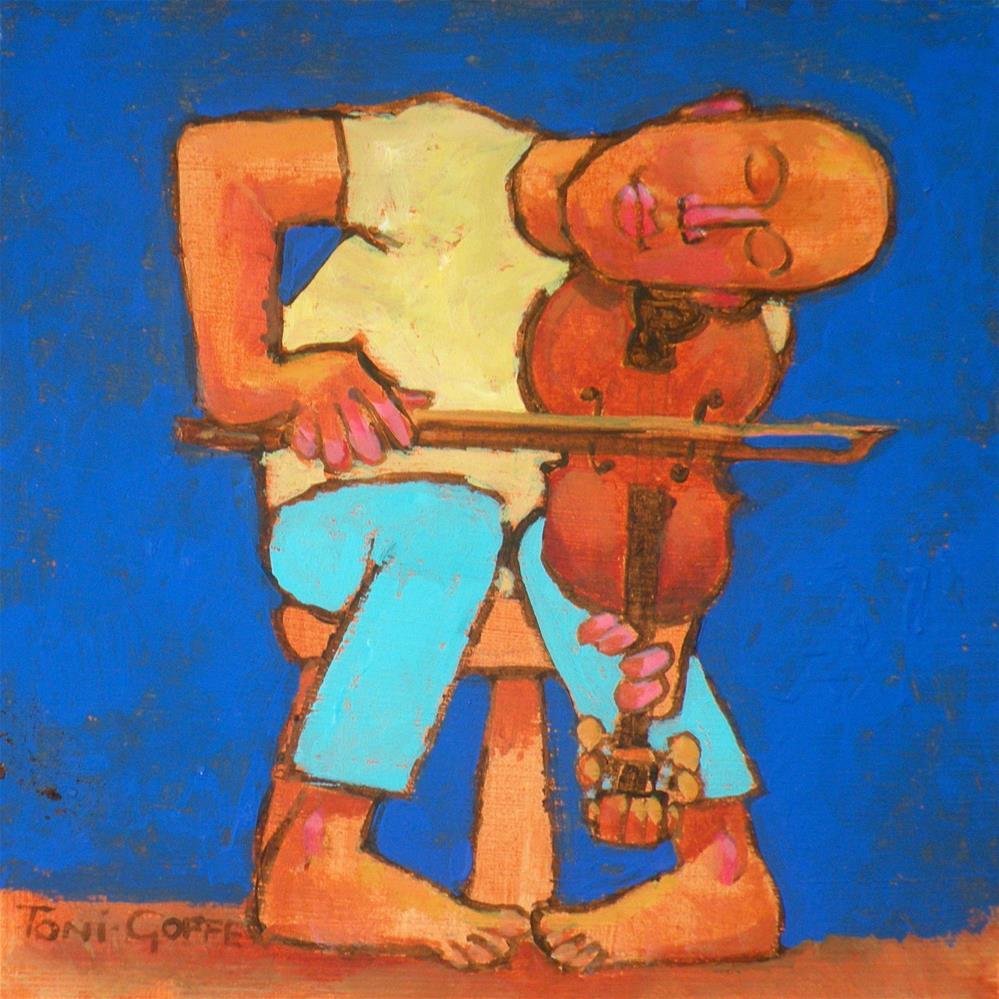 """Practice"" original fine art by Toni Goffe"