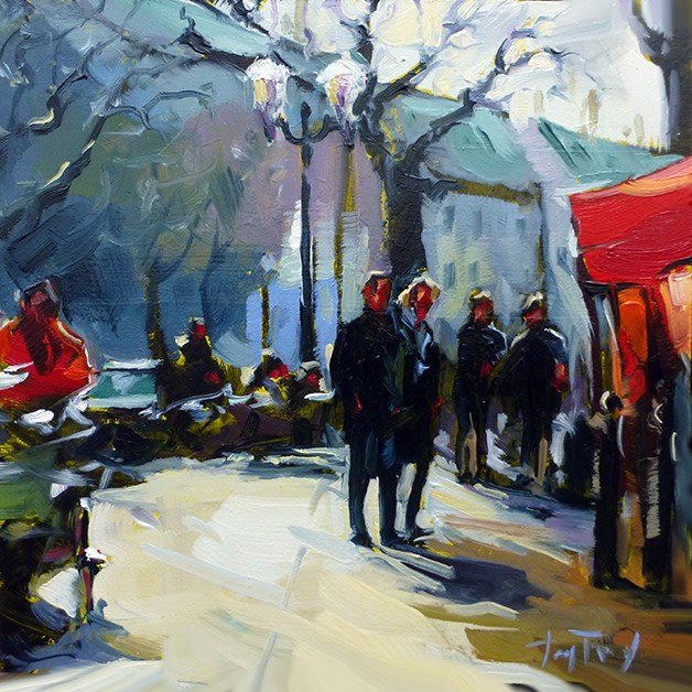 """Auf dem Markt"" original fine art by Jurij Frey"