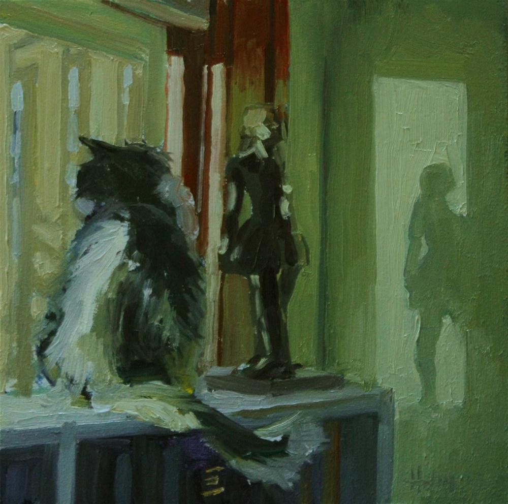 """Larry and Degas"" original fine art by Ski Holm"