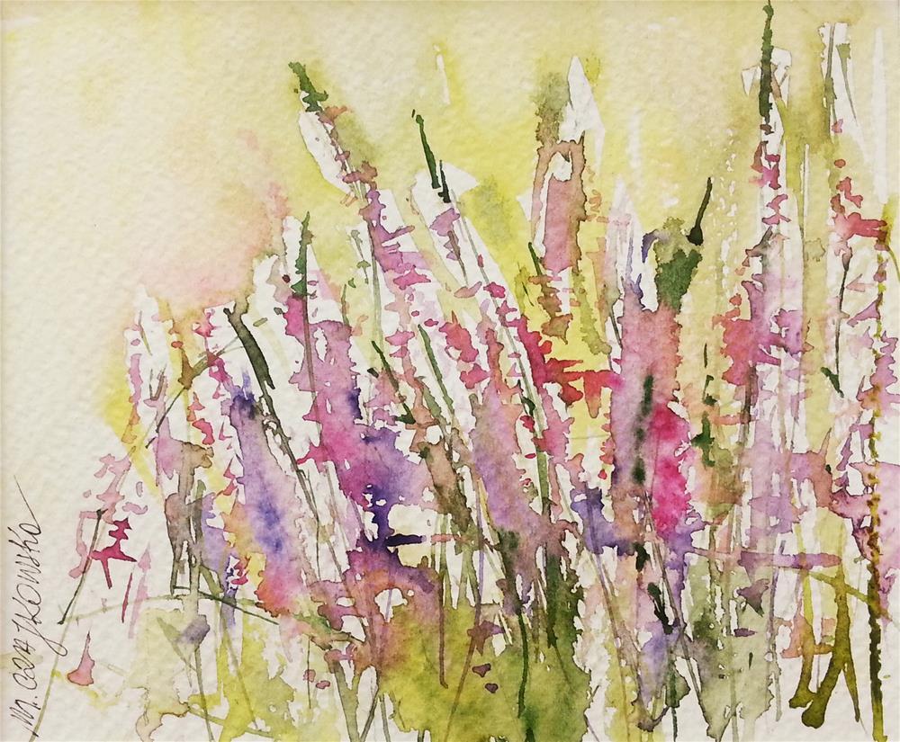 """Heathers 2"" original fine art by Marlena Czajkowska"