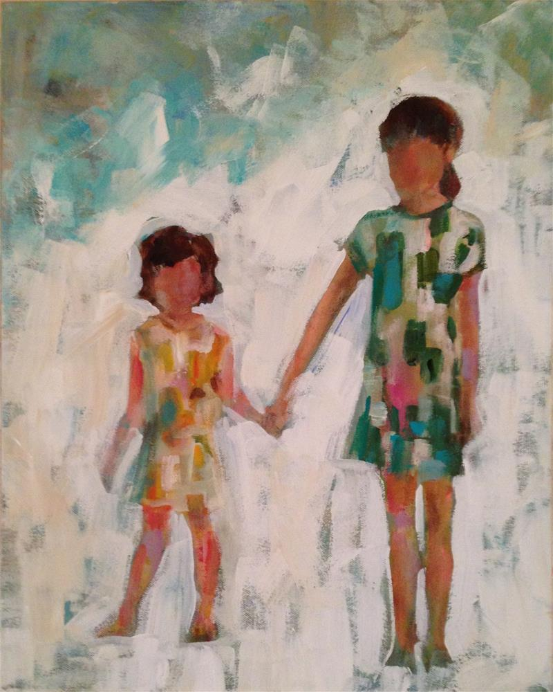 """Sisters"" original fine art by Molly Wright"