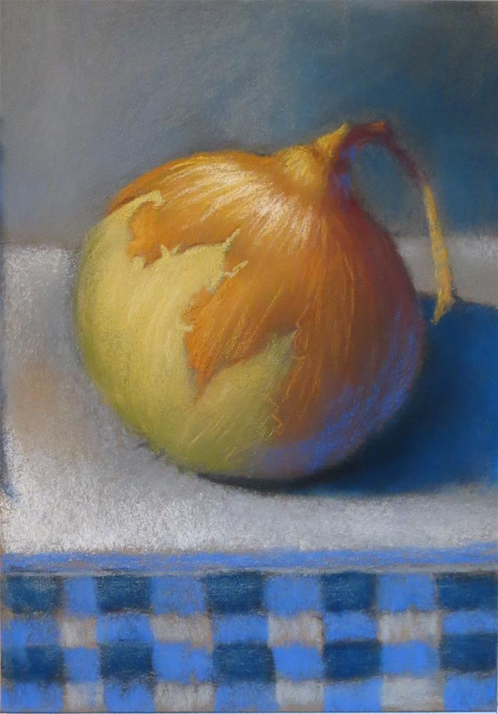 """Onion in Gingham"" original fine art by Judy Albright"