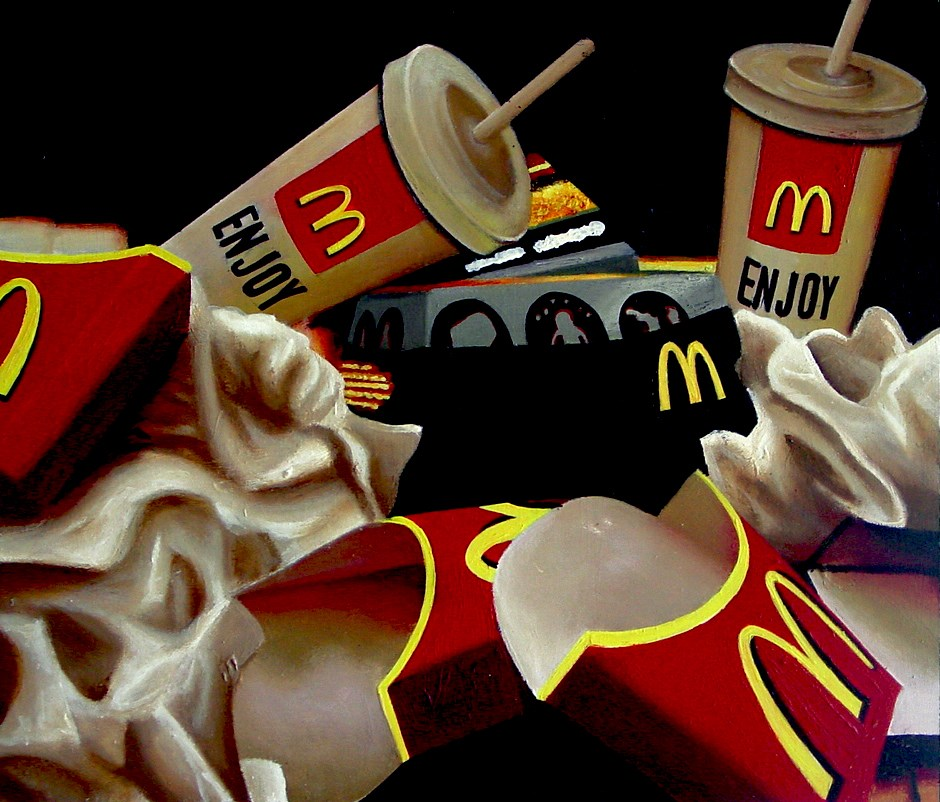 """McDonald's Vanitas"" original fine art by Gerard Boersma"