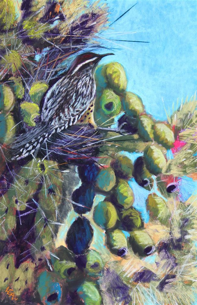"""Home Sweet Cholla"" original fine art by Anna Lisa Leal"