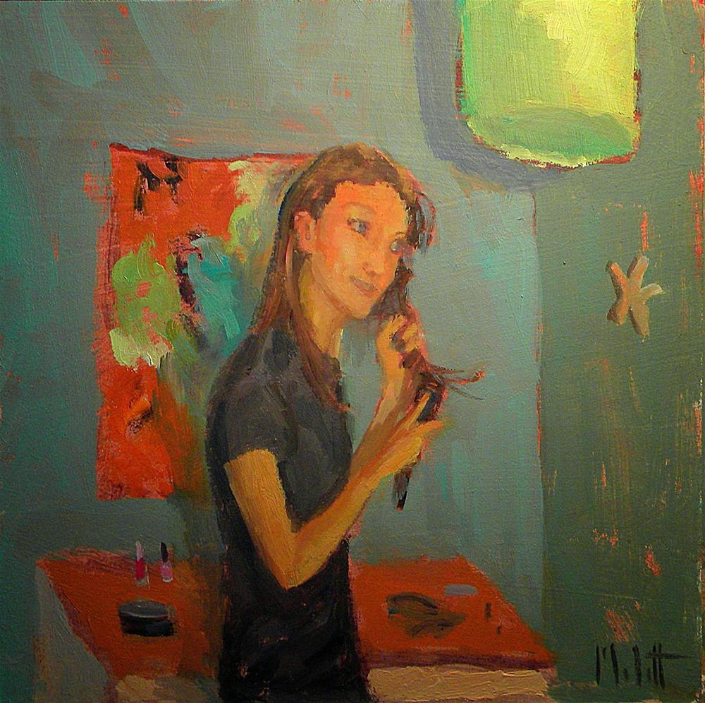 """Teenage Daughter Portrait Oil Painting Original Art"" original fine art by Heidi Malott"