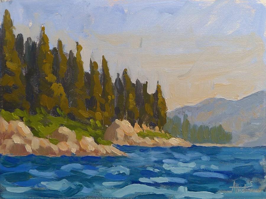 """Emerald Bay"" original fine art by Adam Houston"