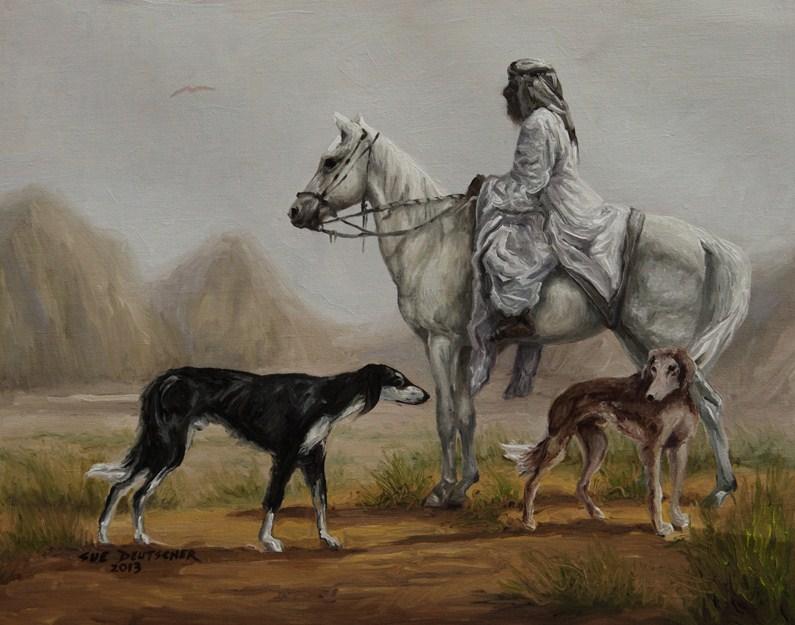 """""""Helpers"""" original fine art by Sue Deutscher"""