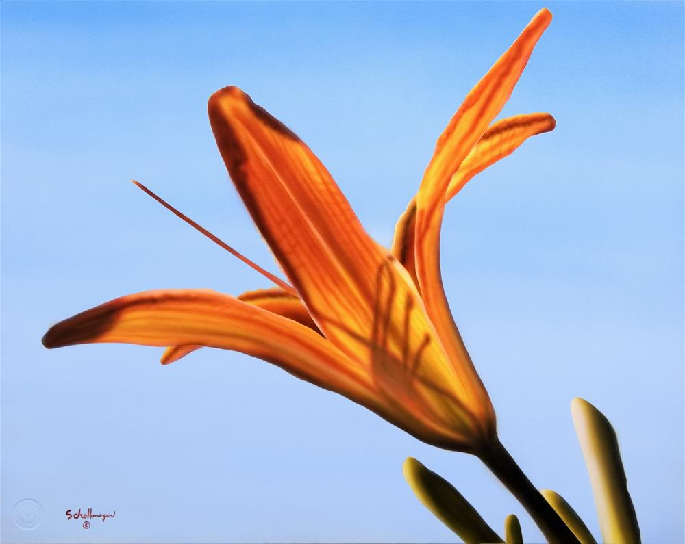 """Day Lily # 3"" original fine art by Fred Schollmeyer"