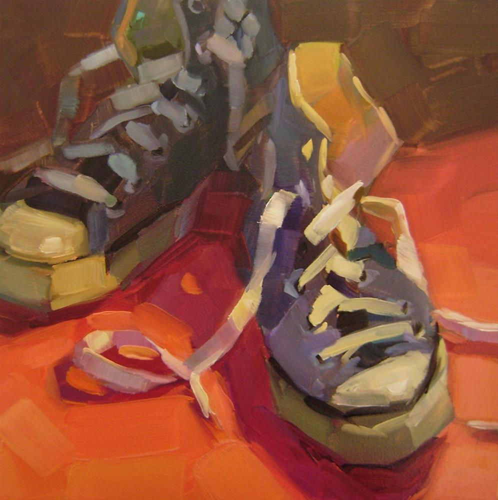 """Blue Chucks"" original fine art by Holly Storlie"