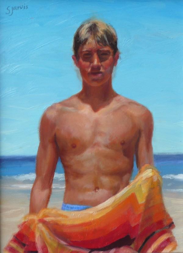 """""""Surfer"""" original fine art by Susan N Jarvis"""