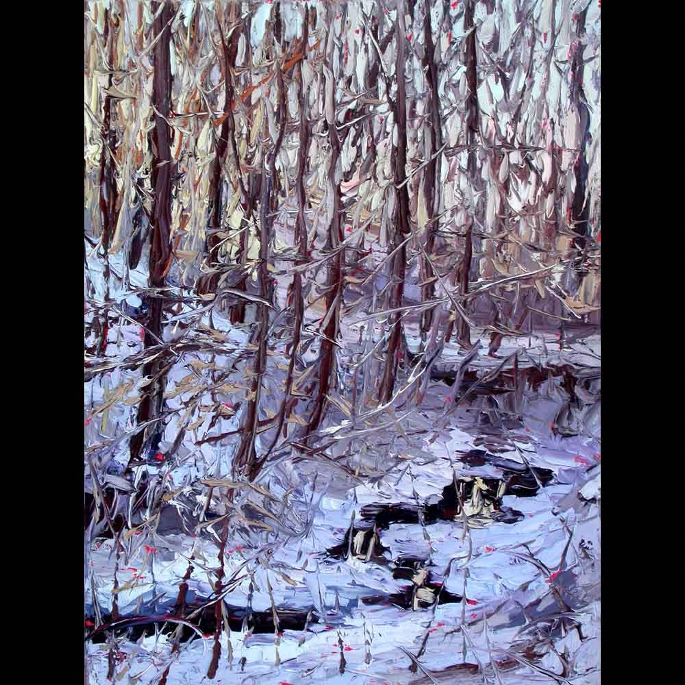 """120713 16x12 First Heavy Snow of the Season"" original fine art by Charlene Marsh"