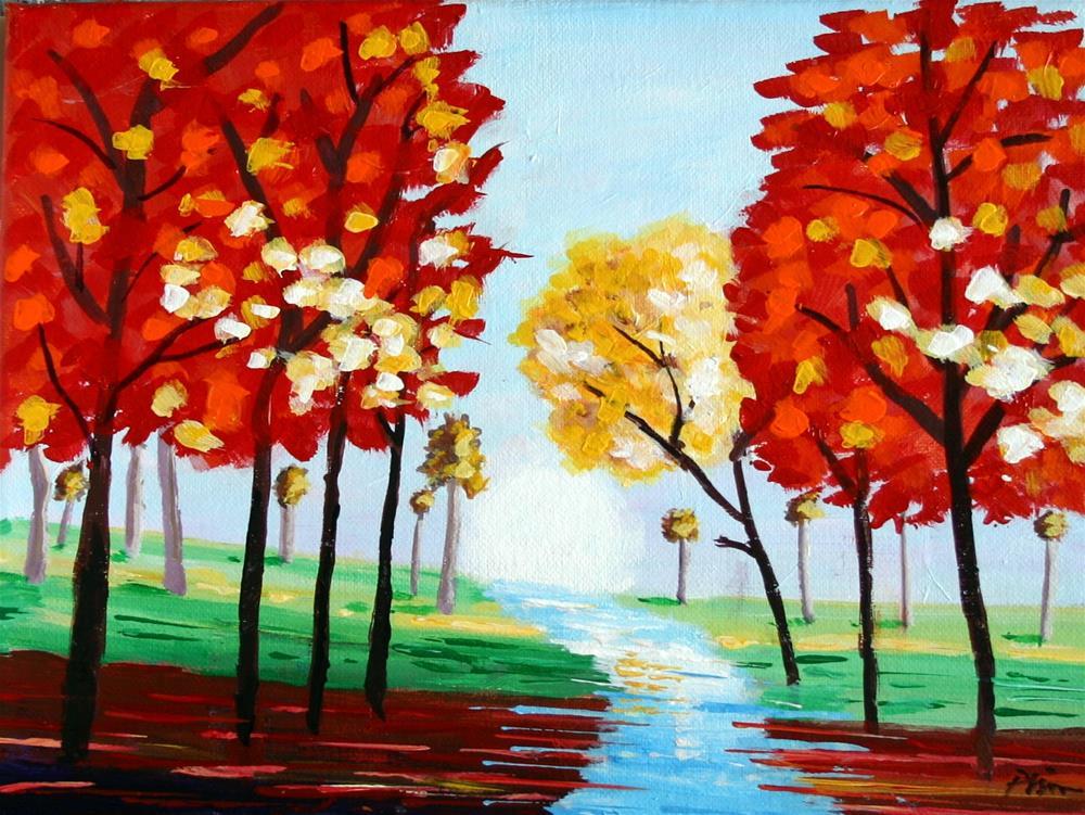 """TREE COLORS"" original fine art by Bob Phillips"