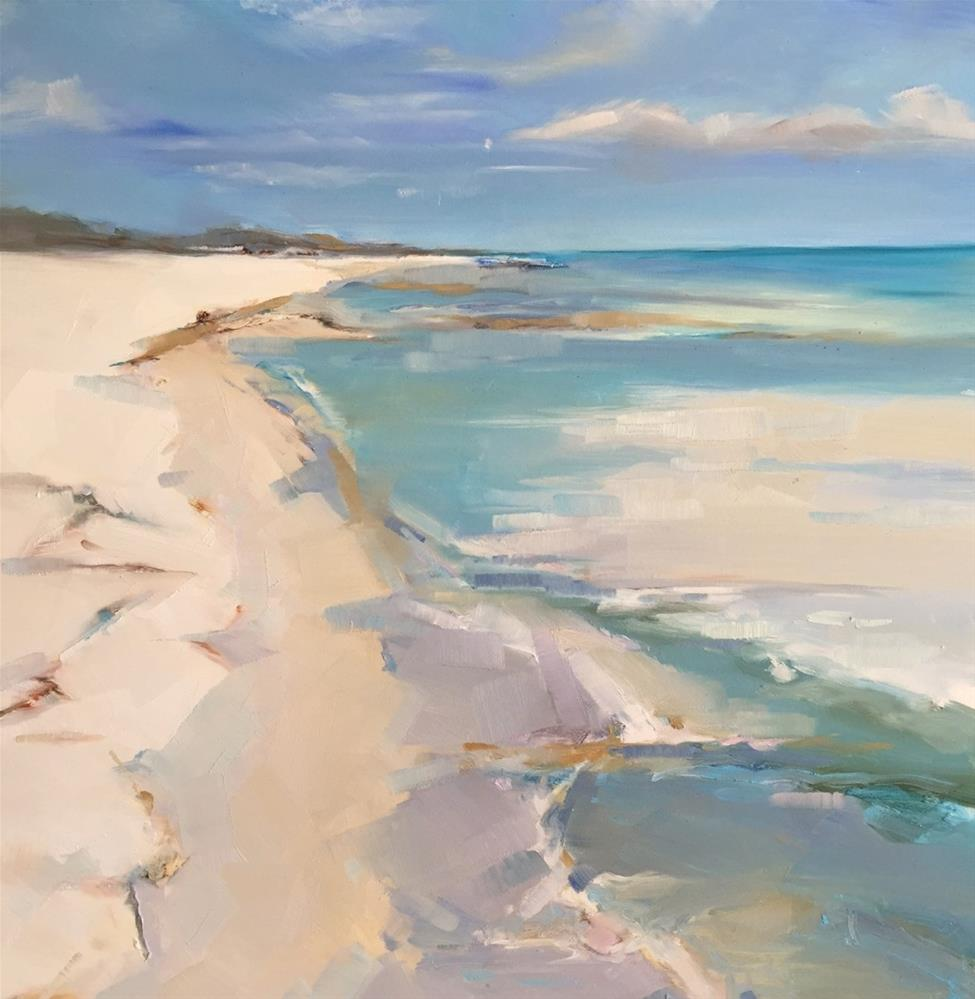 """Turquoise Water"" original fine art by Kathleen Broaderick"