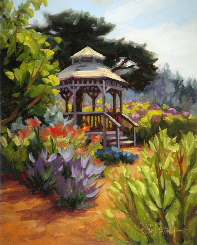 """Gazebo by the Sea"" original fine art by Erin Dertner"