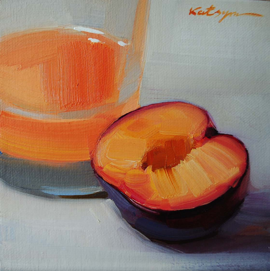 """Grapefruit Juice"" original fine art by Elena Katsyura"
