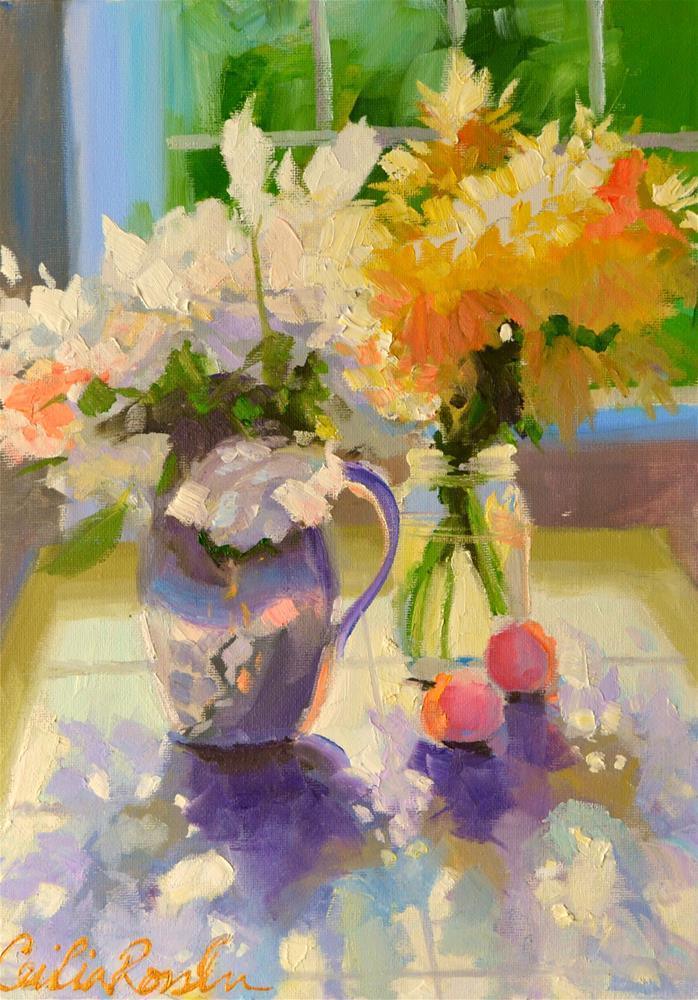 """DAISIES"" original fine art by Cecilia Rosslee"
