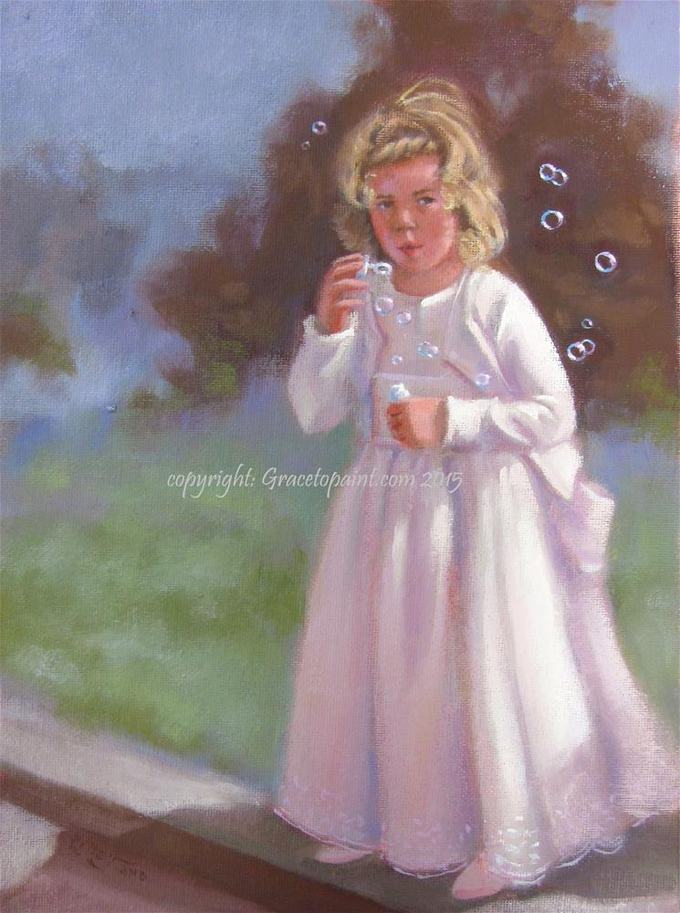 """Bridal Bubbles"" original fine art by Maresa Lilley"
