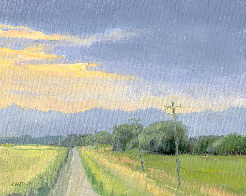 """""""Afternoon Storm"""" original fine art by Kath Reilly"""