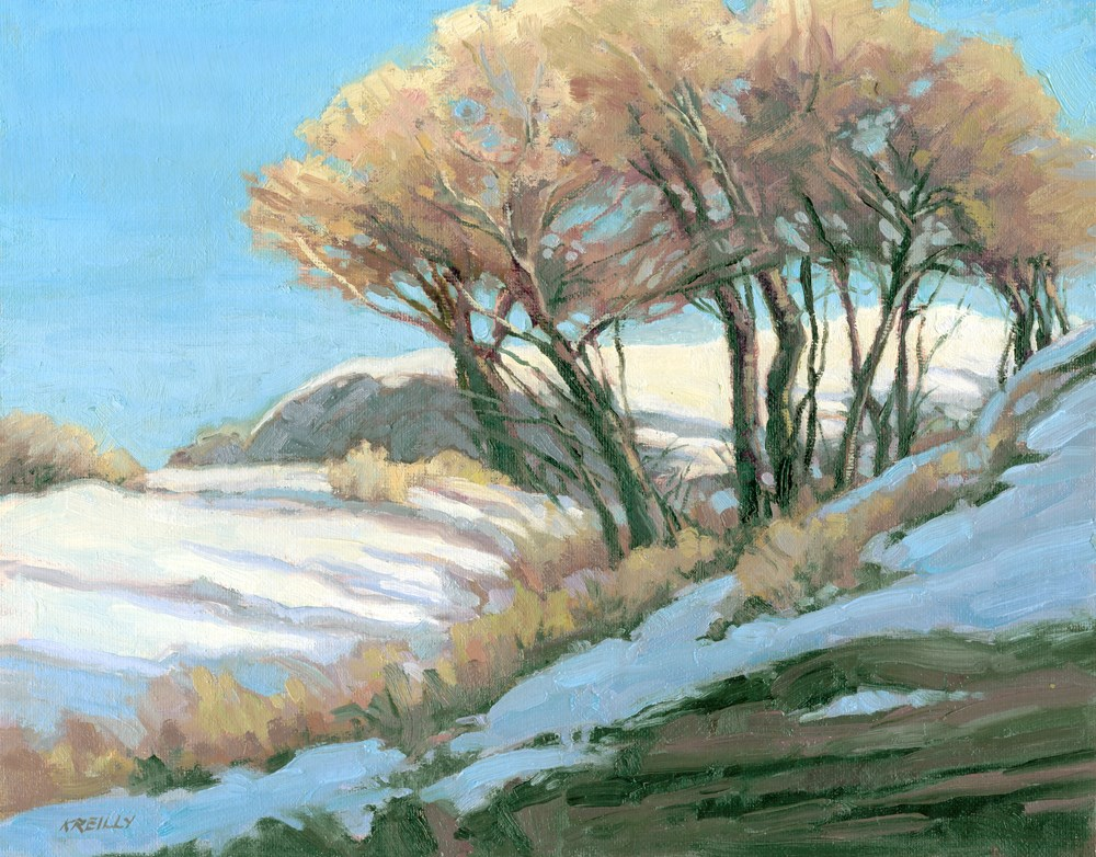 """WInter Trees"" original fine art by Kath Reilly"