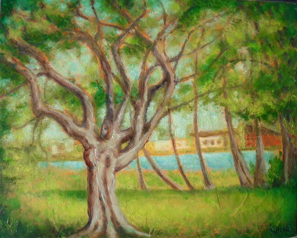 """""""By the Lake"""" original fine art by Karen Roncari"""