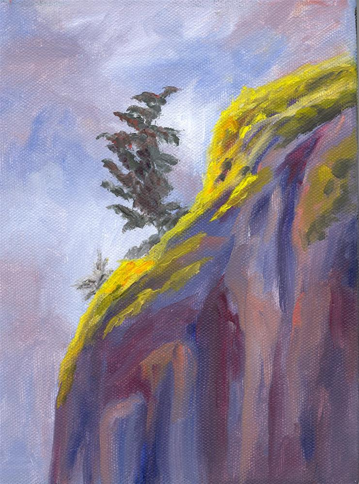 """CLIFFHANGER"" original fine art by Karen E Lewis"