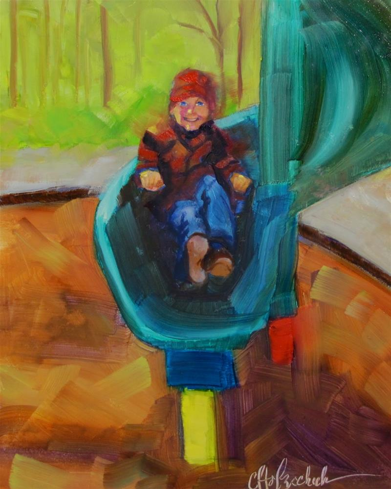 """It Was a Good Ride"" original fine art by Christine Holzschuh"