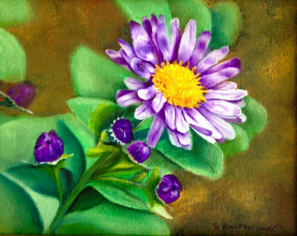 """""""Purple and Gold"""" original fine art by Susan Hoffheimer"""