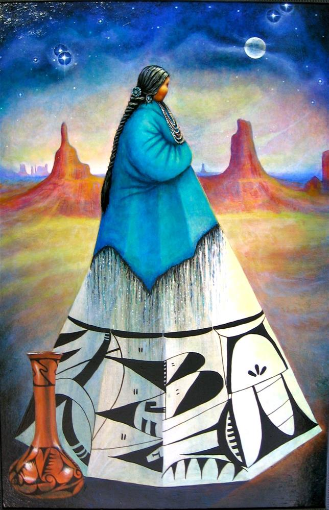 """Guardian of the Desert"" original fine art by Karen Roncari"