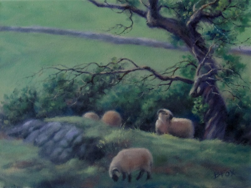 """Near Kilkenny"" original fine art by Barbara Fox"