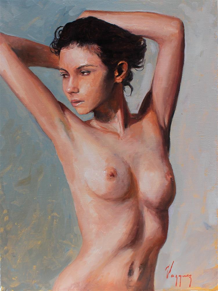 """""""Nude study"""" original fine art by Marco Vazquez"""