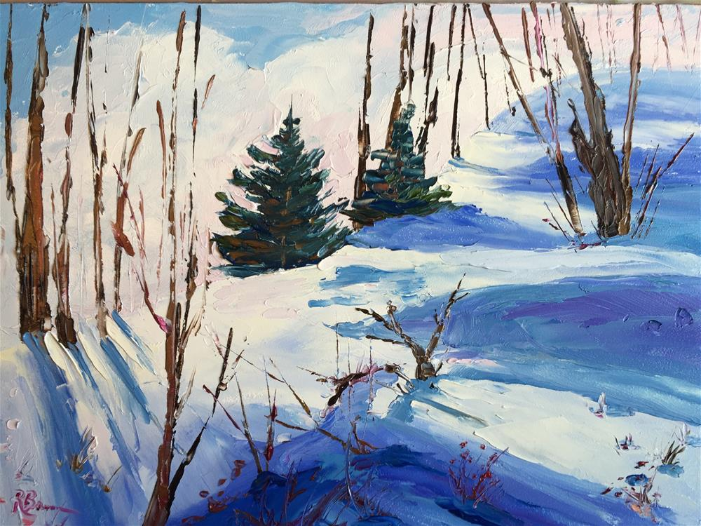 """Winter Scene"" original fine art by Rose Brenner"