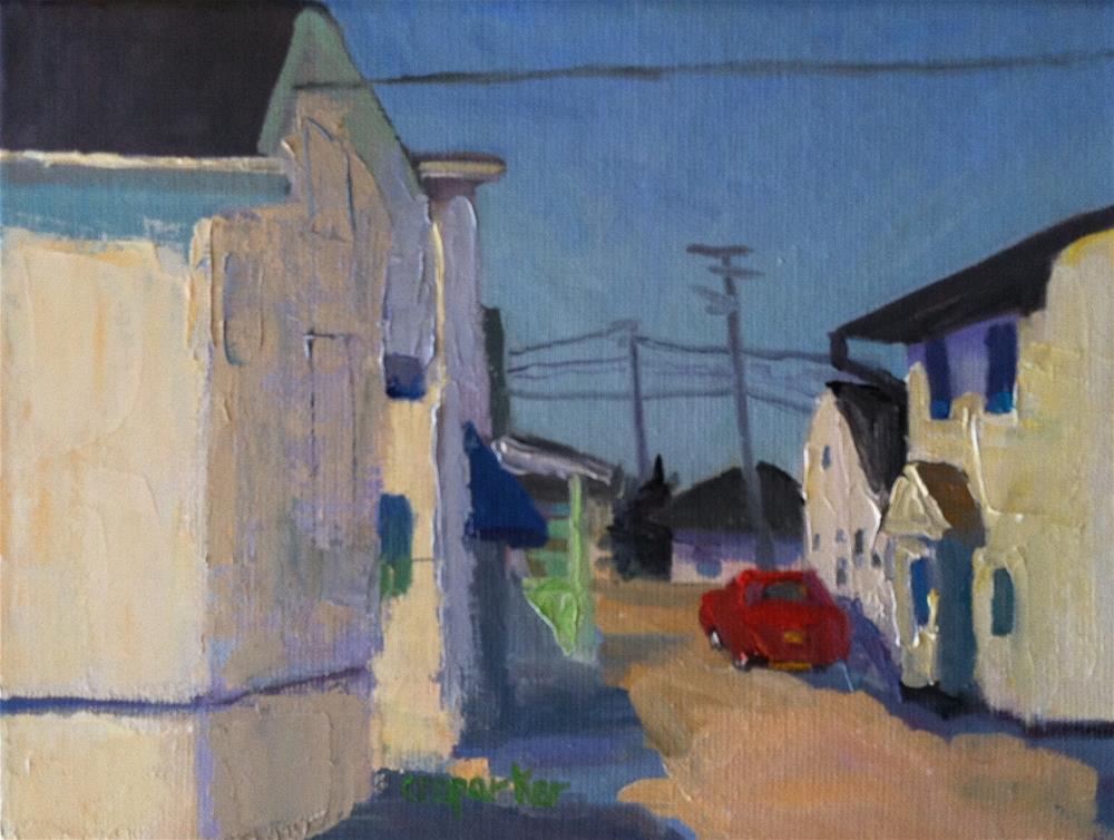 """Beach Cottages, 3/28/14"" original fine art by Christine Parker"