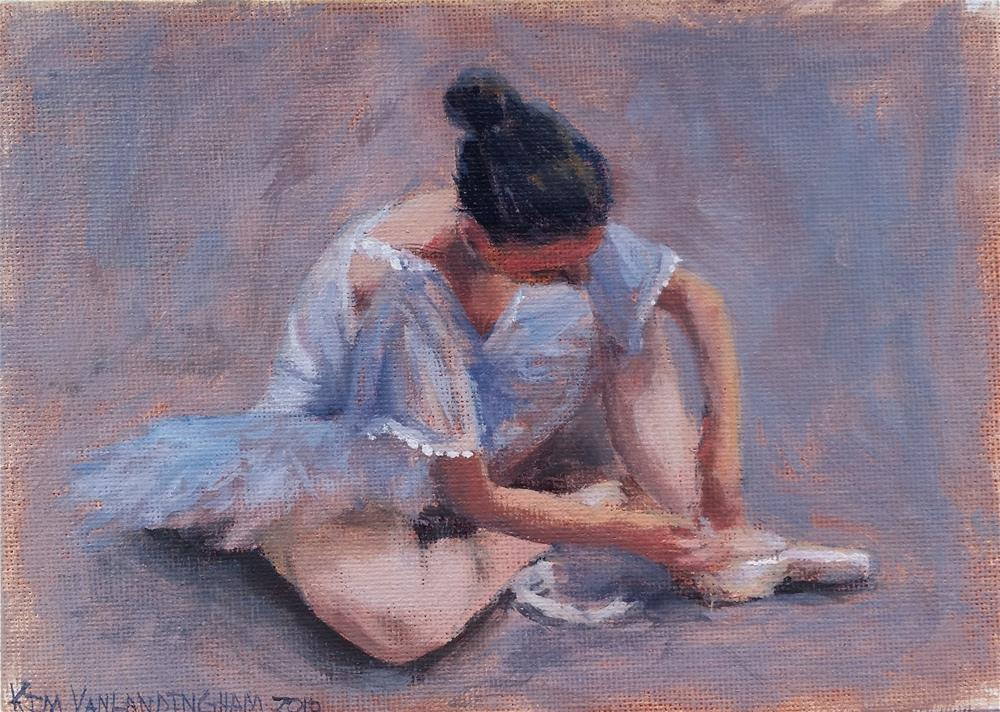 """Dancer in Blue"" original fine art by Kim Vanlandingham"