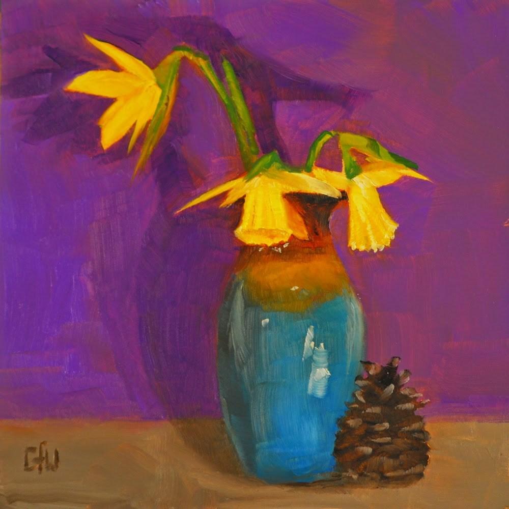 """""""Three Daffodils"""" original fine art by Gary Westlake"""