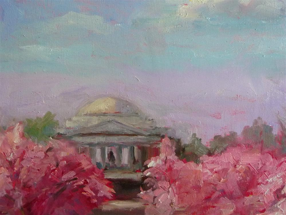 """Jefferson Memorial"" original fine art by Carol Josefiak"