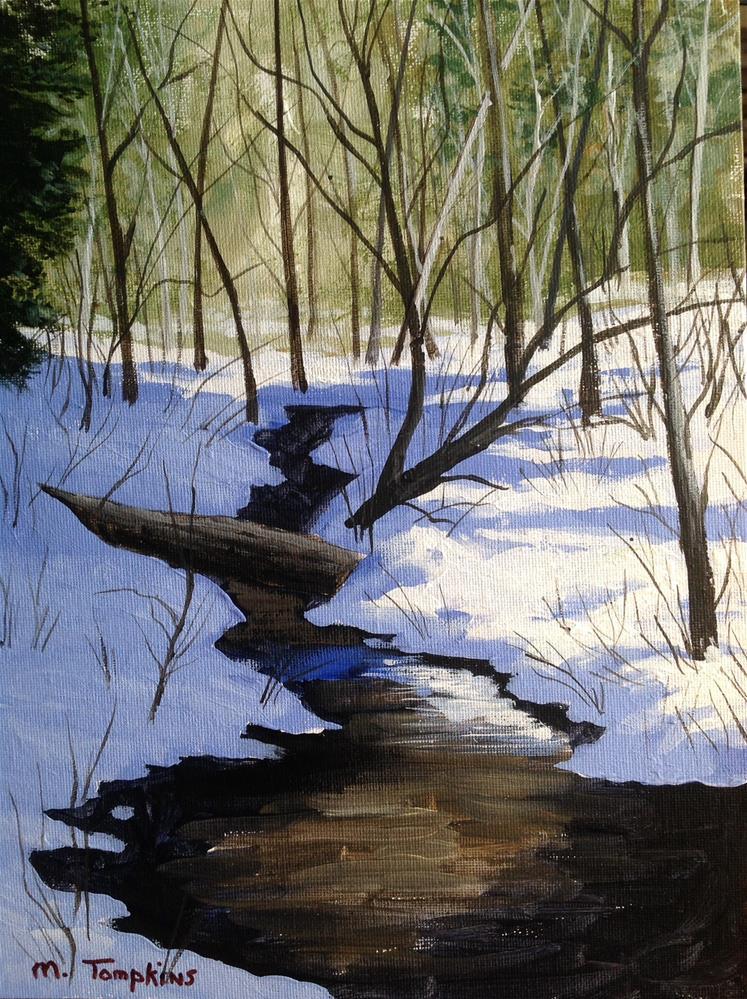 """Snowy River"" original fine art by Mark Tompkins"