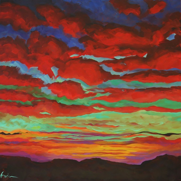 """FIERY"" original fine art by Dee Sanchez"