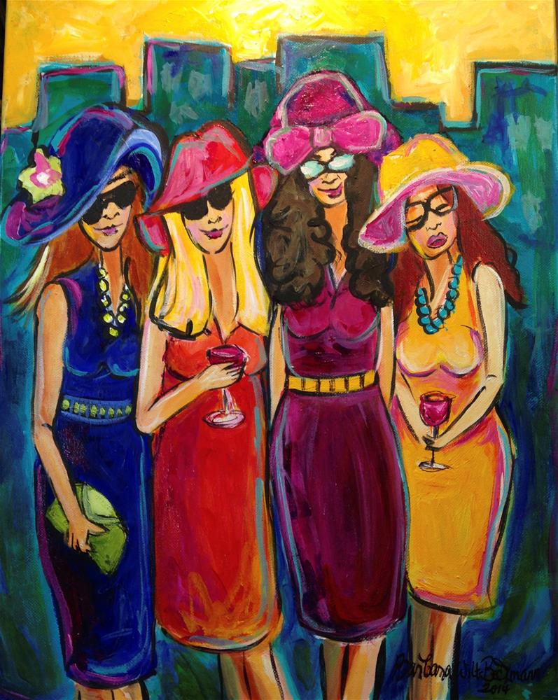 """Ladies night out"" original fine art by Barbara Beckmann"