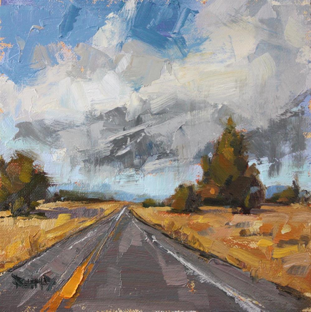 """Cline Falls Road, Bend Oregon"" original fine art by Cathleen Rehfeld"