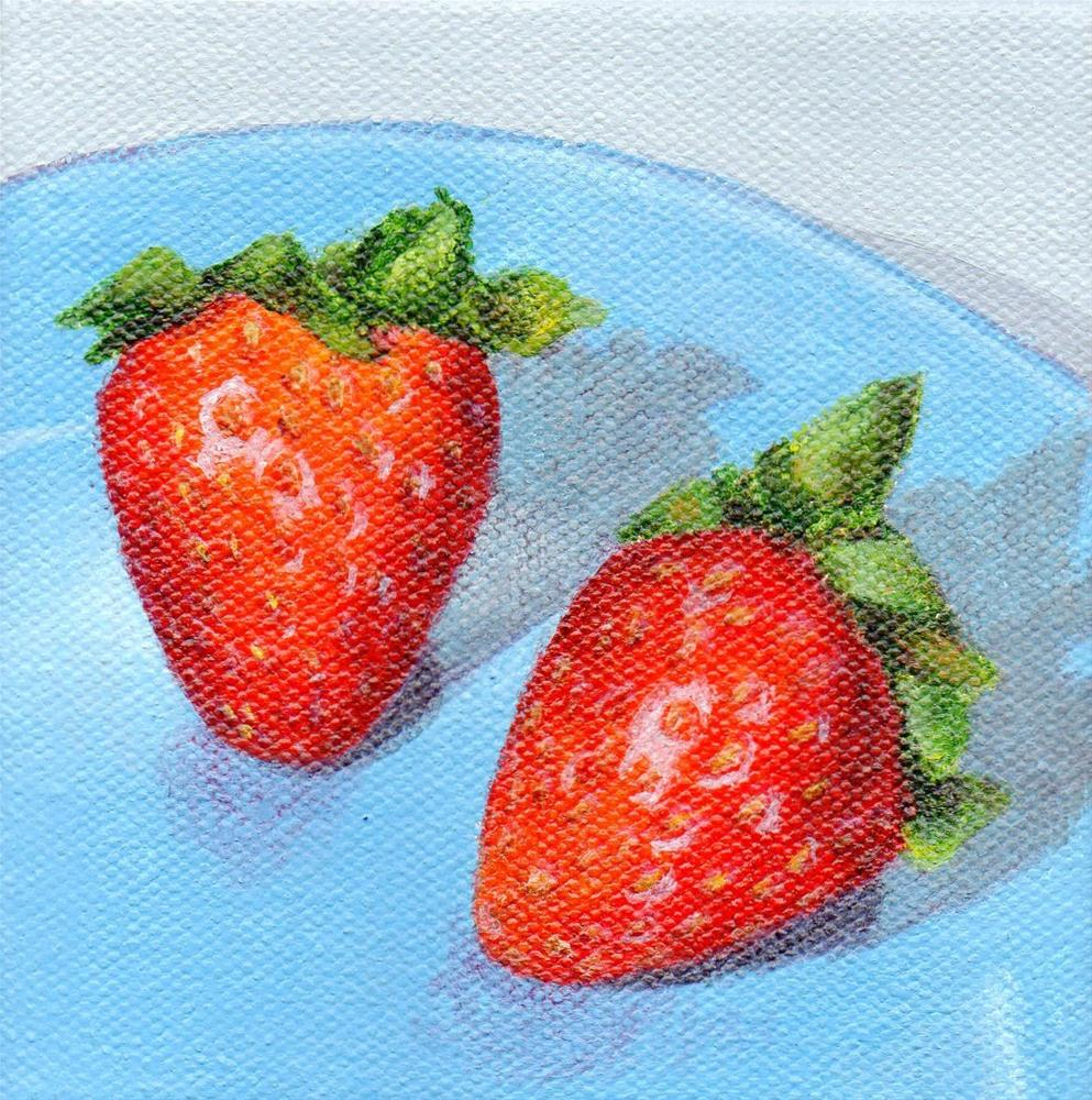 """Berry Buddies"" original fine art by Debbie Shirley"
