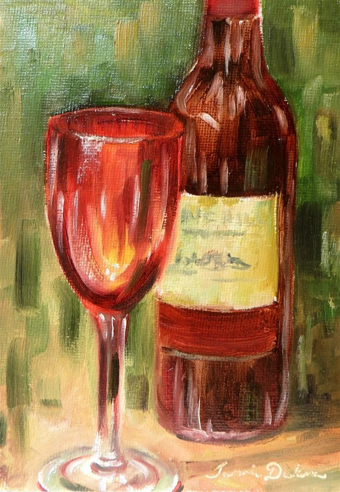 """Red Wine and Glass"" original fine art by Tammie Dickerson"